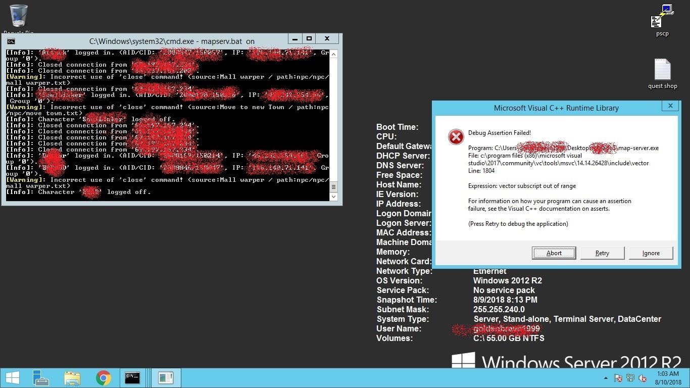 New rathena mapserver exe crash · Issue #3398 · rathena