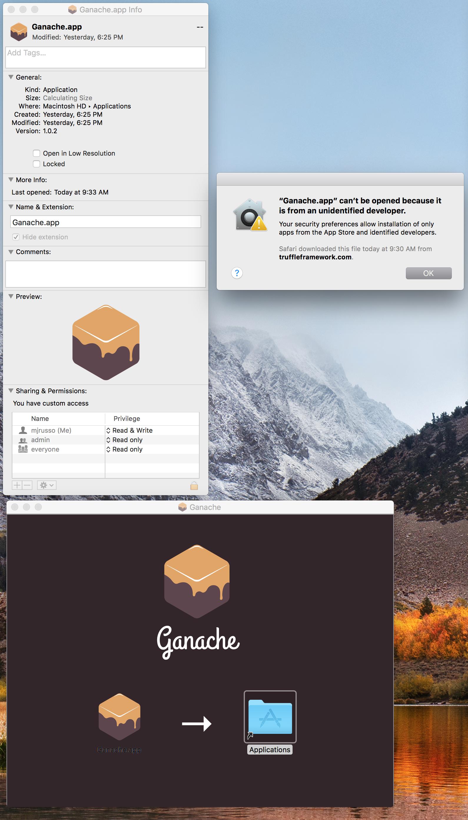 OSX app - Unidentified developer · Issue #216 · trufflesuite/ganache