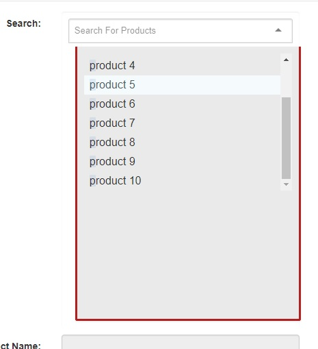 Results is loaded in the browser but didn't appear in the Dropdown