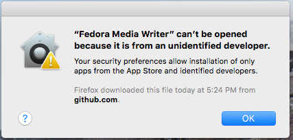 macOS: FMW can't be opened because it is from an
