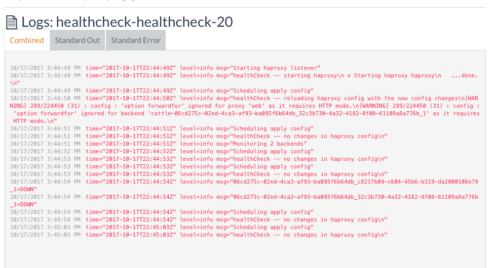 Health Check stuck Initializing when used a host that have a