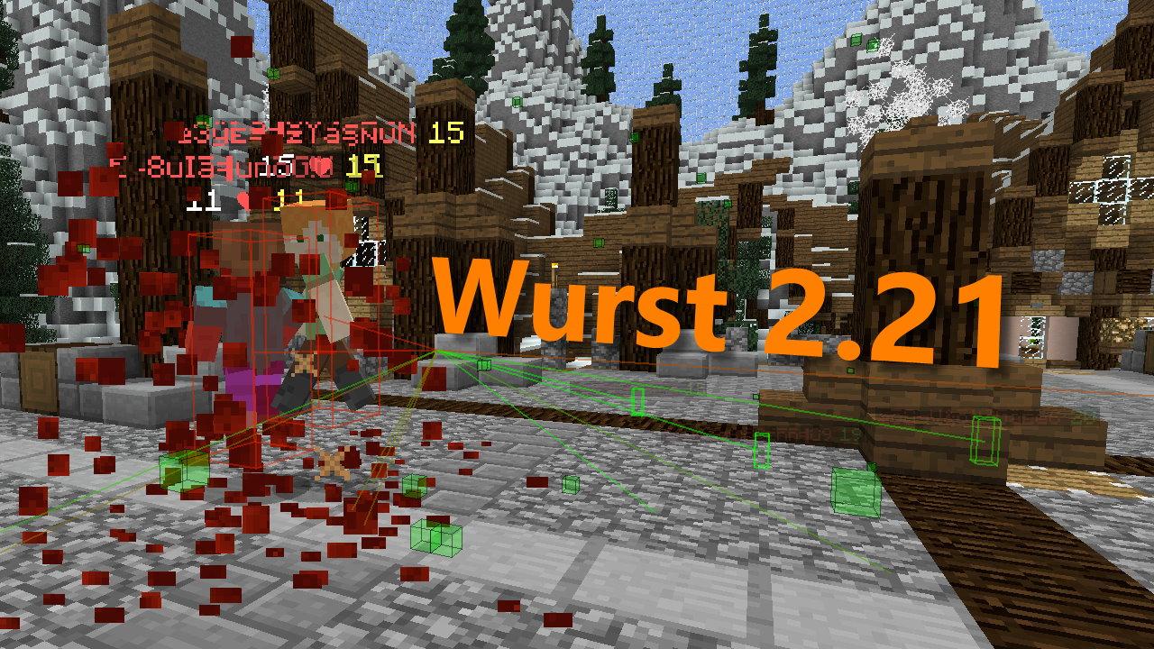 Wurst 2.21 - Better Killaura Bypass, Better Alt Manager & More
