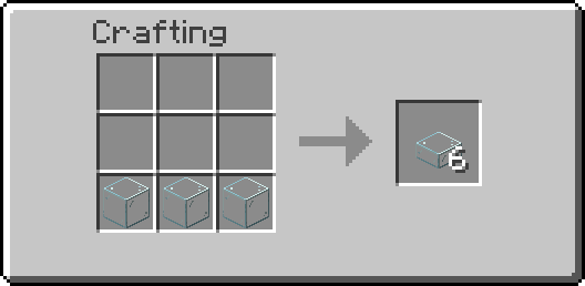 glass slab crafting recipse