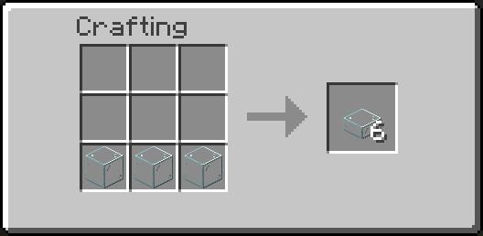 glass slab crafting recipse
