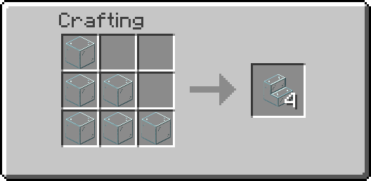 glass stairs crafting recipe