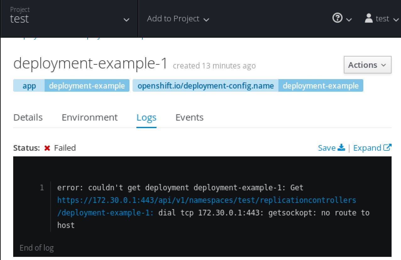 Getting Started Example Doesnt Work Issue 17926 Openshift