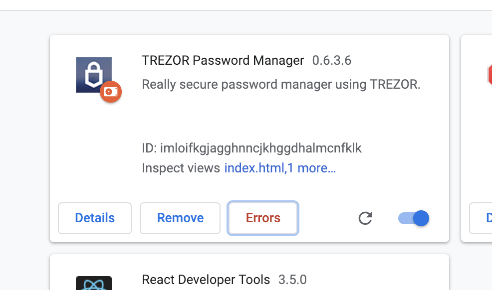 Errors in extension · Issue #59 · trezor/trezor-password
