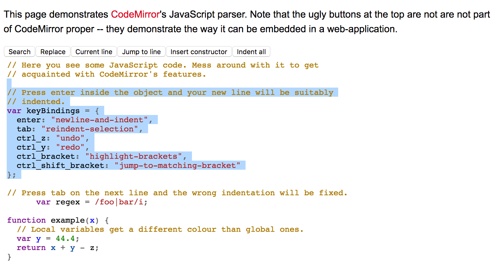 Add non full line selection to CodeMirror · Issue #4951