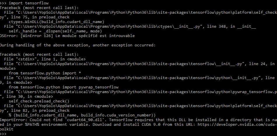 ImportError: Could not find 'cudart64_90 dll'  · Issue