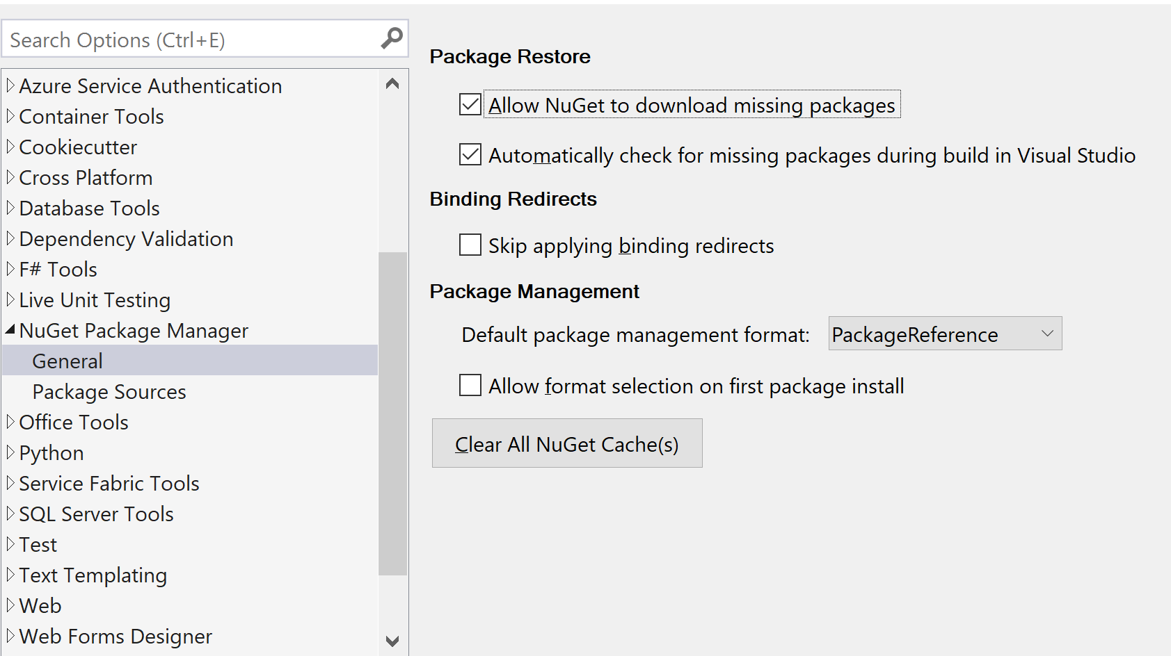 Nuget restore fails on first rebuild, succeeds on second to