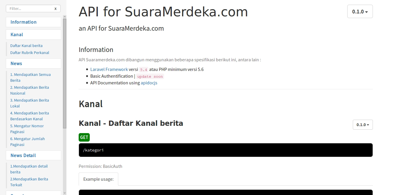 APIdoc pada Suaramerdeka.com