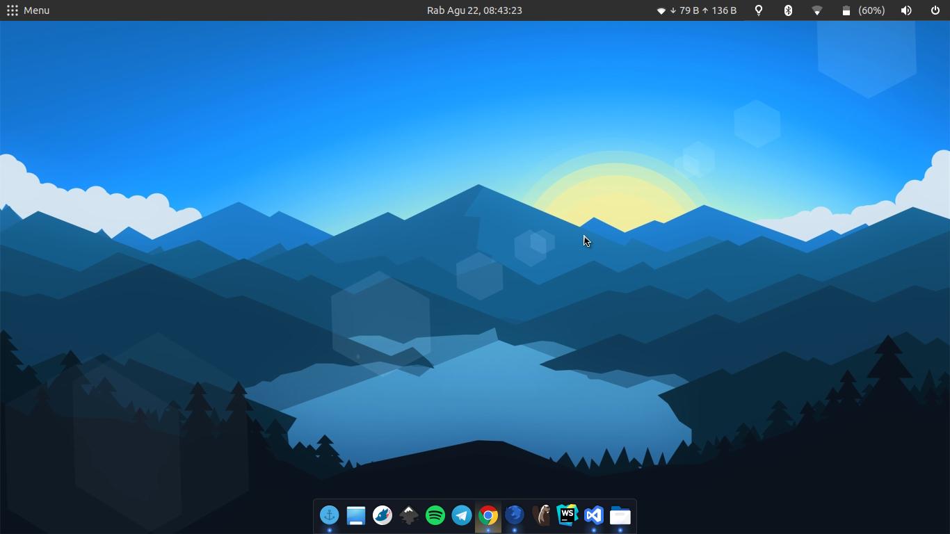Dekstopku dengan icon Mozilla Firefox Developer Edition