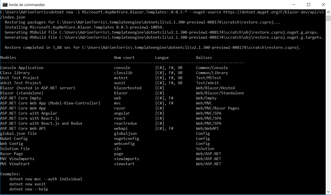Installed template is not listed in dotnet new · Issue #8723 ...