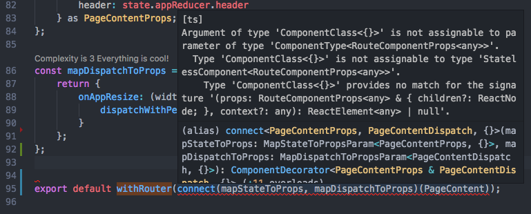 types/react-router : withRouter with react-redux connect · Issue
