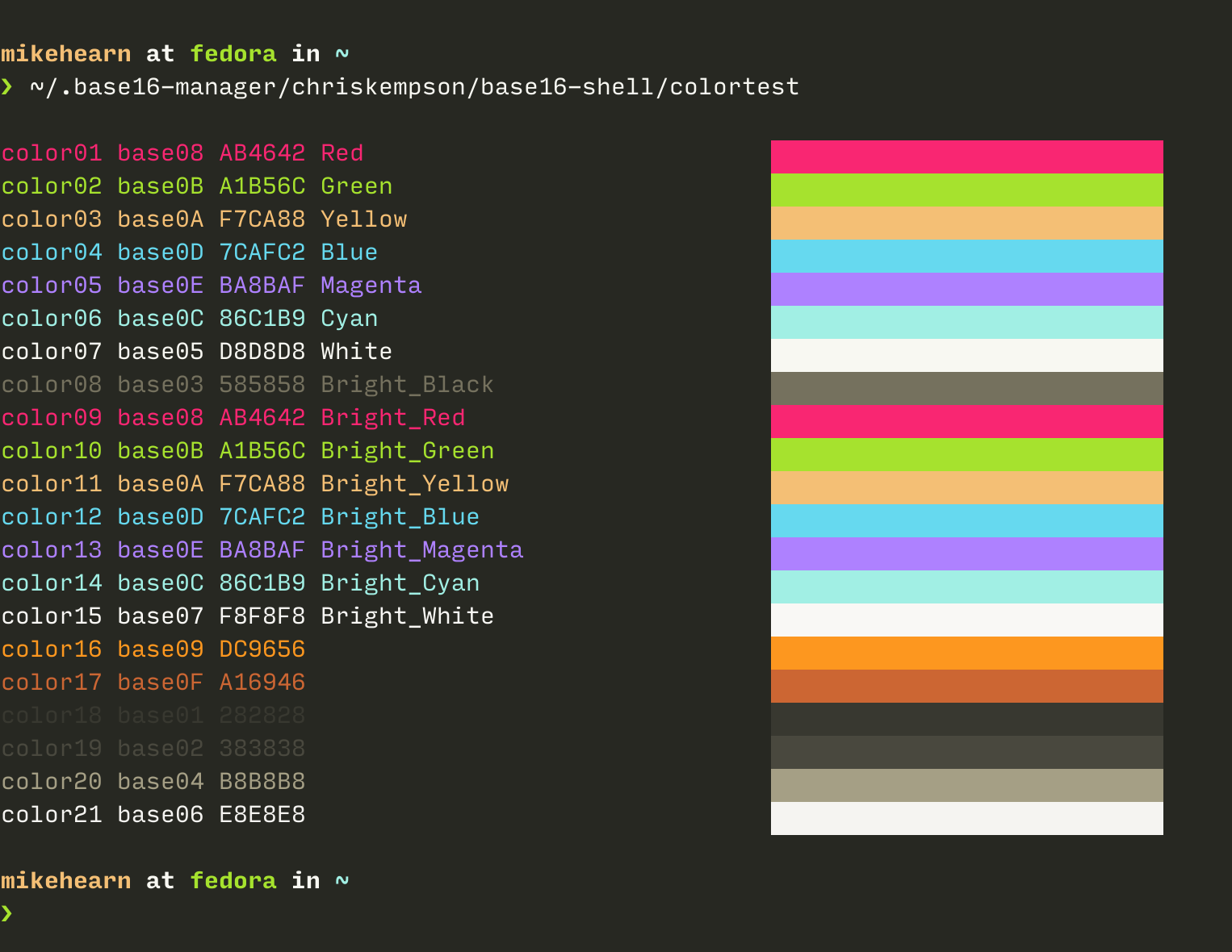 Support for setting colours from escape sequences? · Issue
