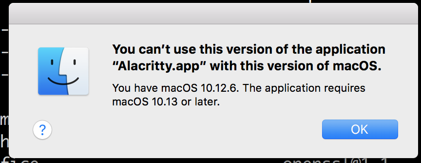 Doesn't work for Mac OSX Sierra · Issue #1853 · jwilm/alacritty · GitHub