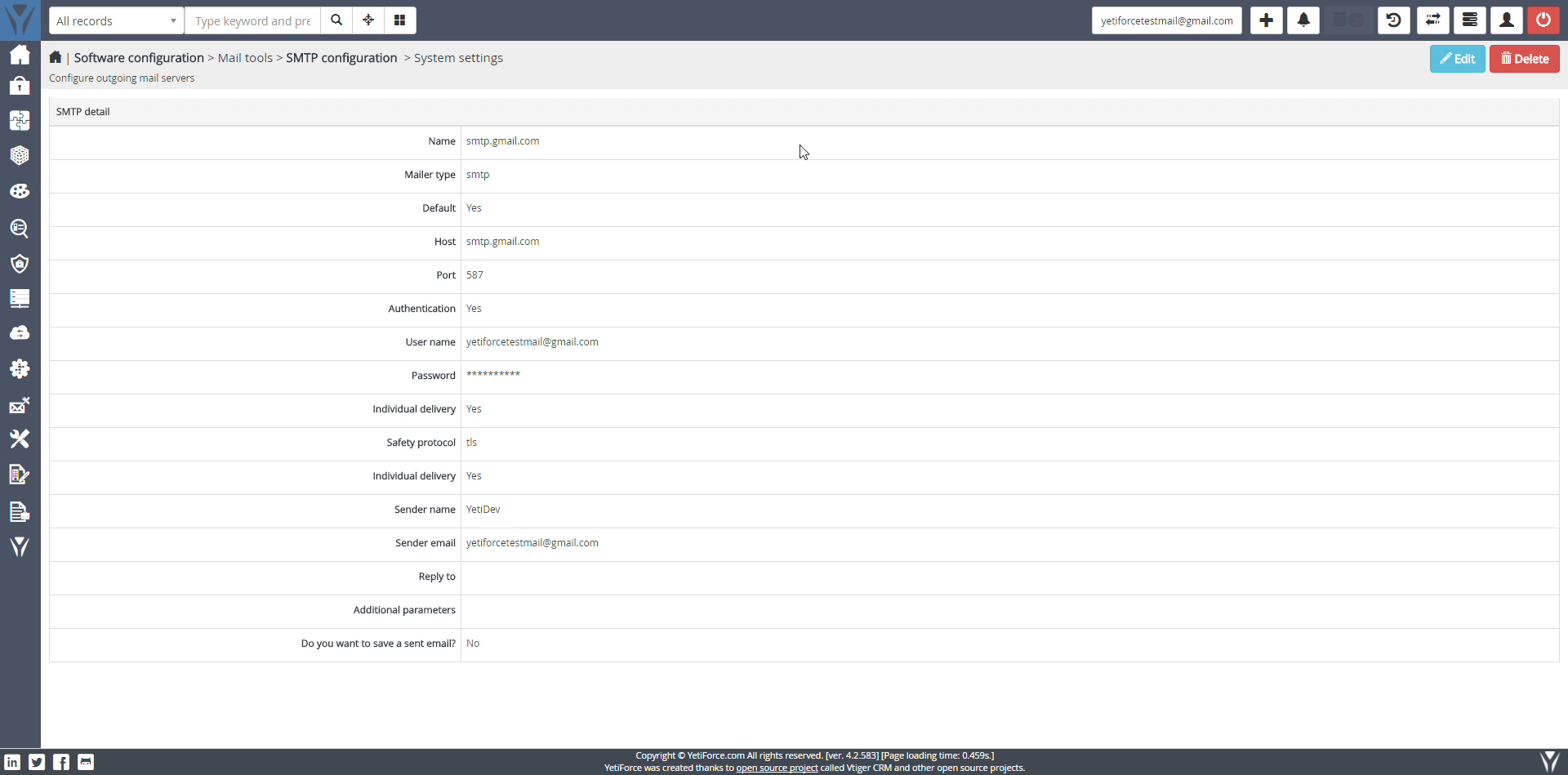 workflow don't send email · Issue #5575 · YetiForceCompany