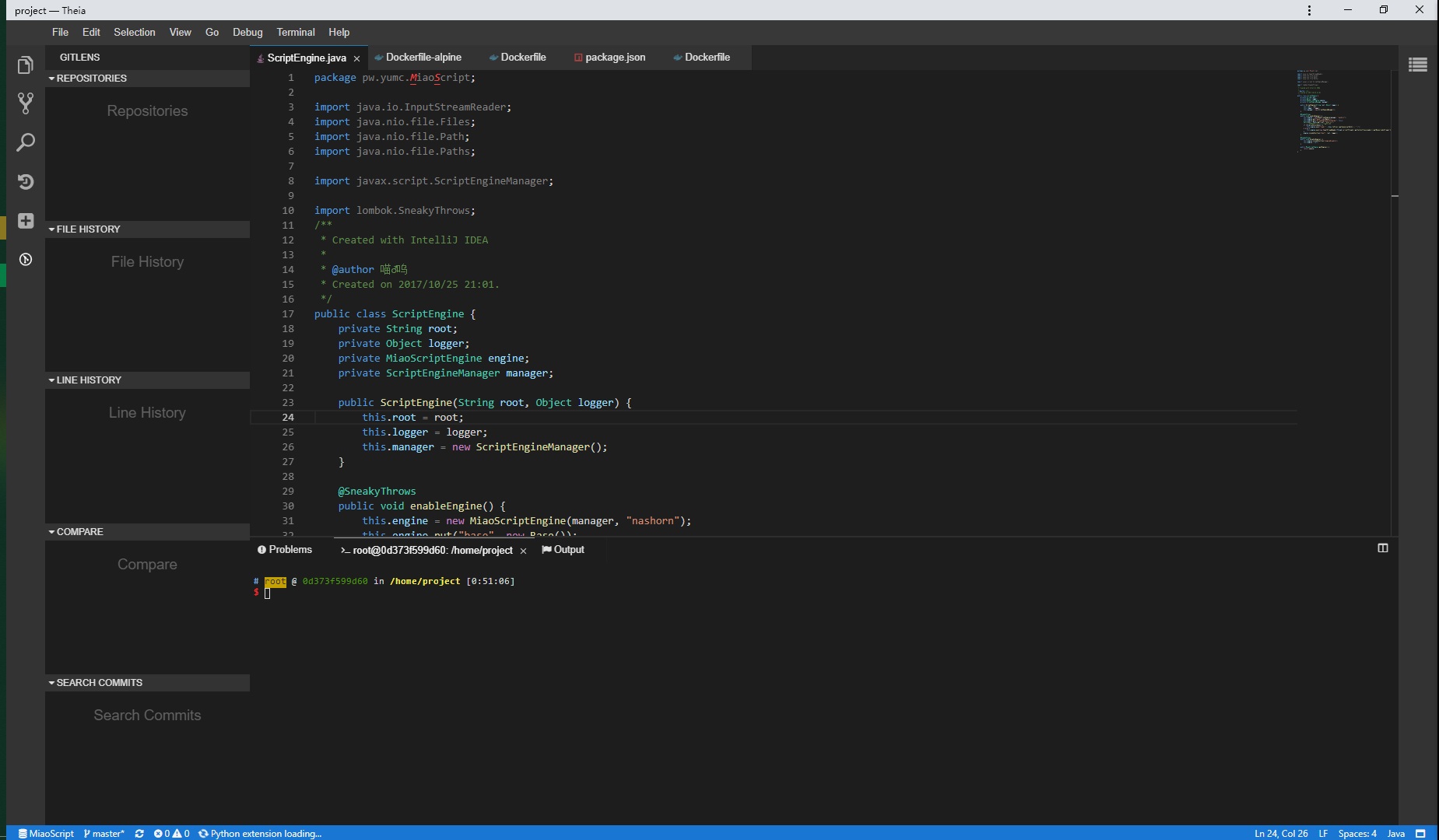 vscode plugin gitlens not support · Issue #4902 · theia-ide/theia