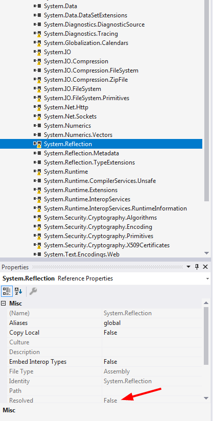 Visual Studio/MSBuild can't find references in 4 6 2 project when
