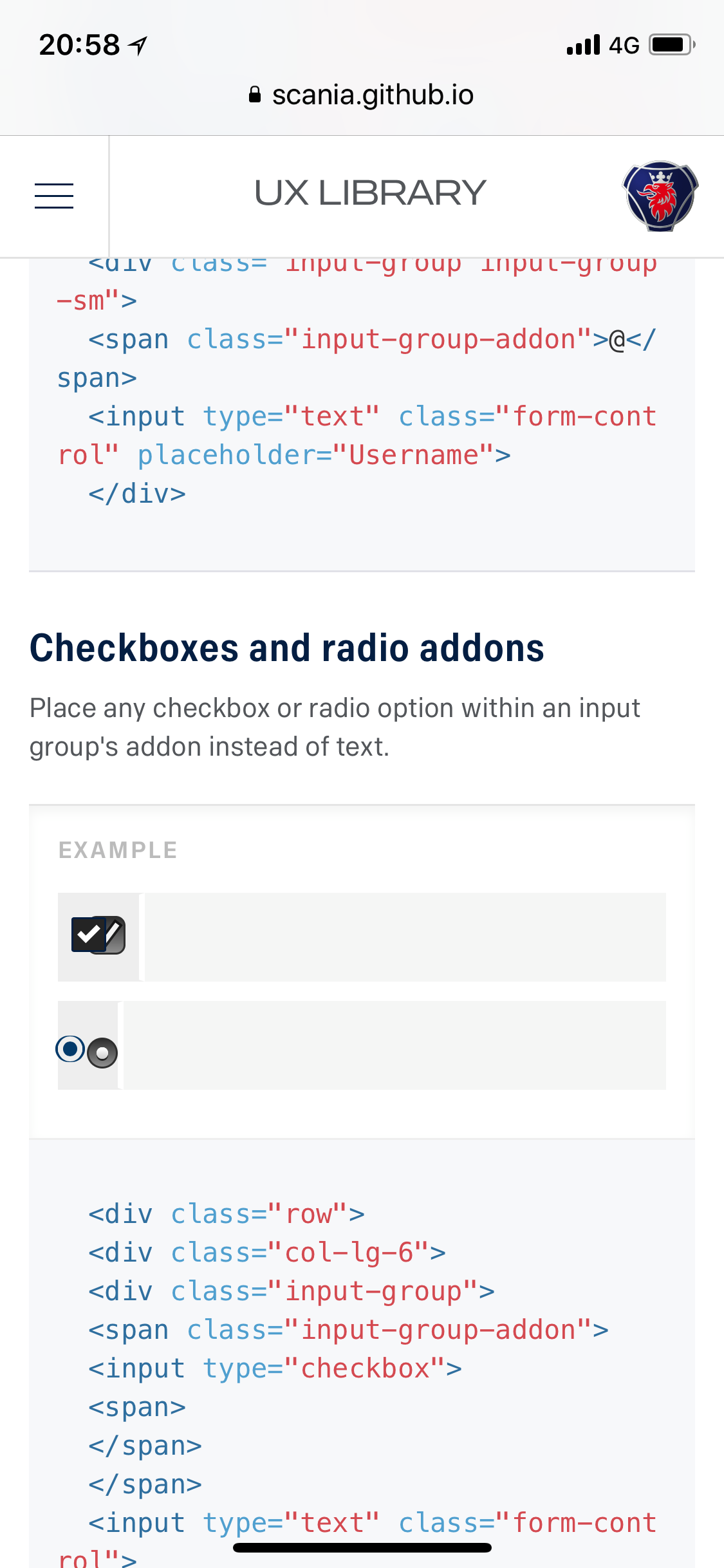 input type checkbox and radio looks weird in mobile view