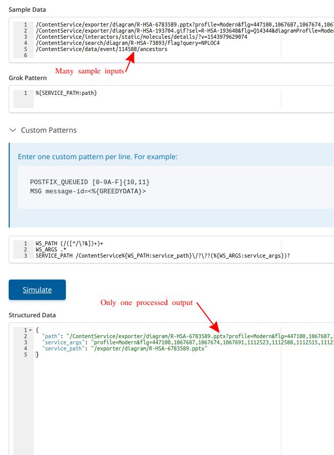 Kibana grok debugger only tests first line of input sample