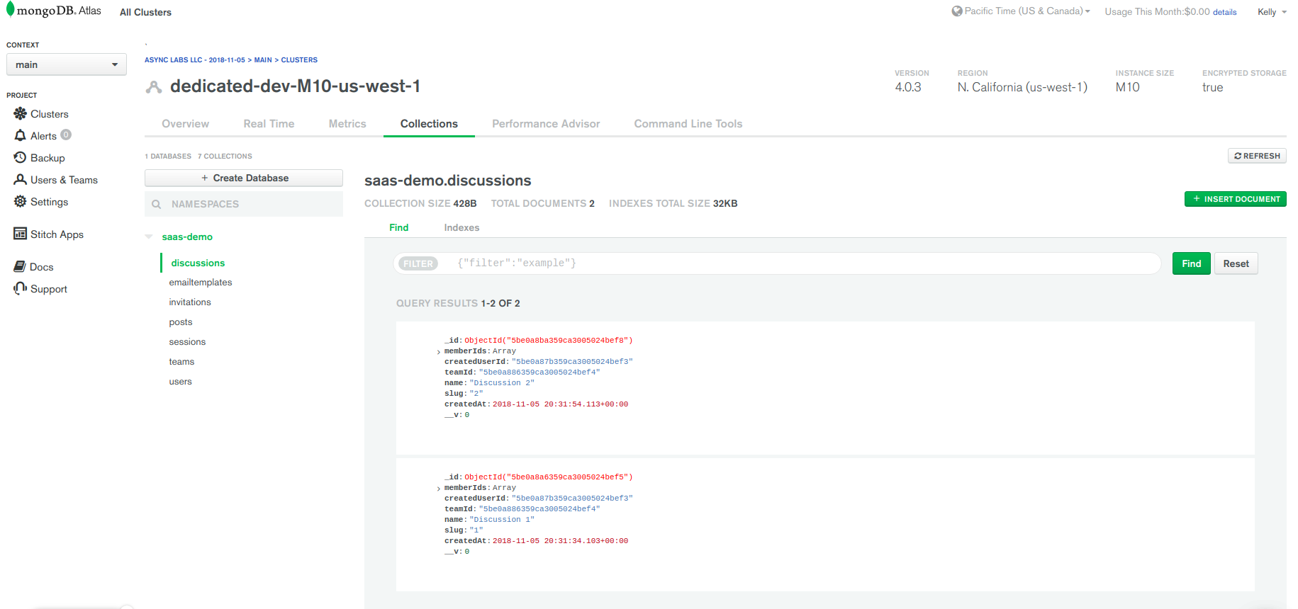 Chapter 2: mLab is becoming a part of MongoDB Atlas · Issue