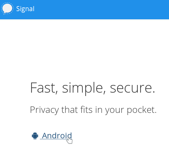 download signal without google play