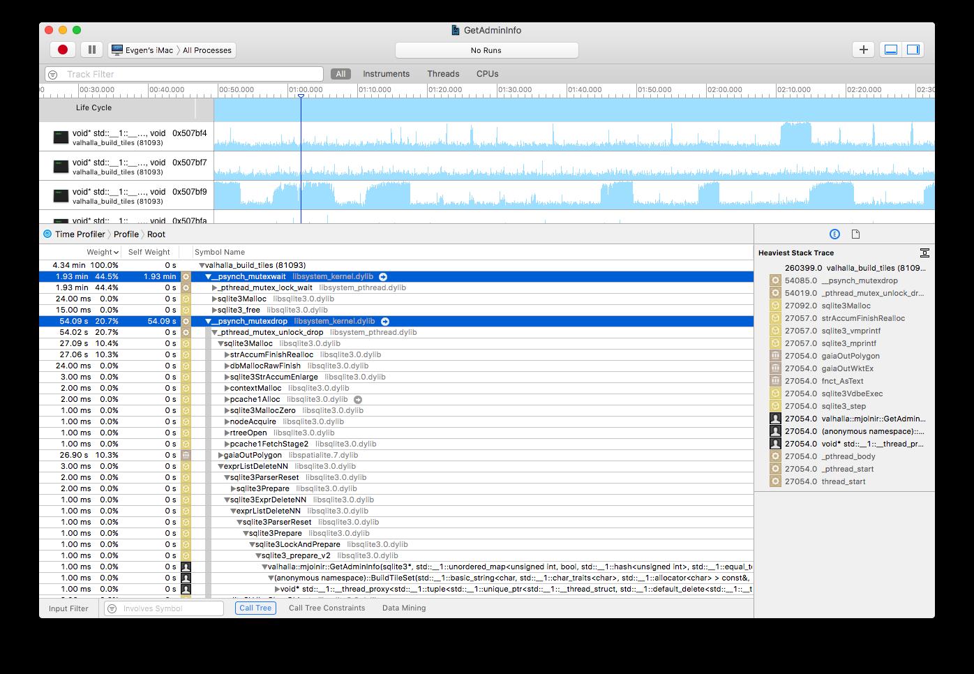 valhalla_build_tiles and GetAdminInfo performance · Issue