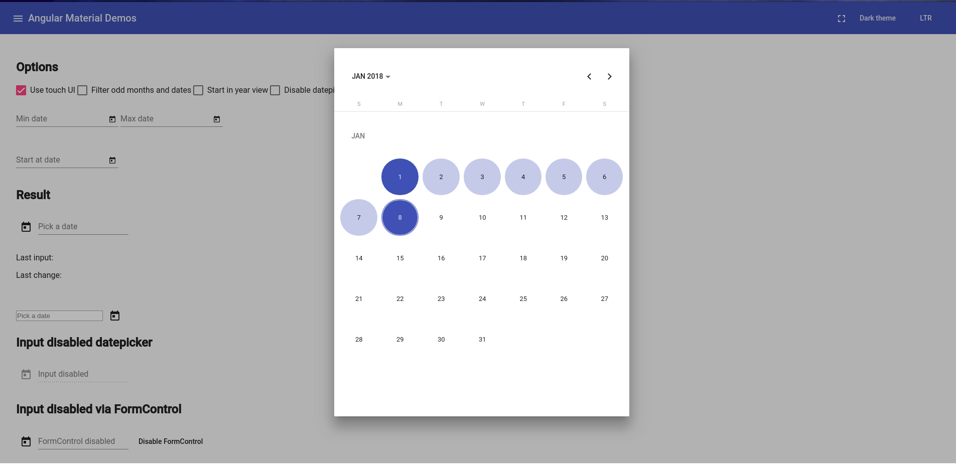 feat(DatePicker): select range of dates · Issue #4763