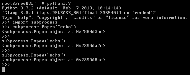 Trying to start a new process crashes the Python interpreter