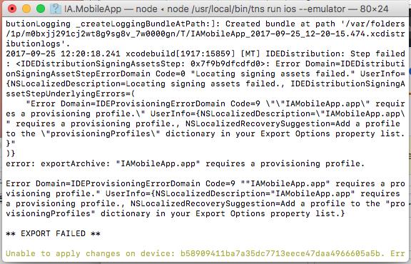 XCode 9: Requires Provisioning Profile Error · Issue #3132