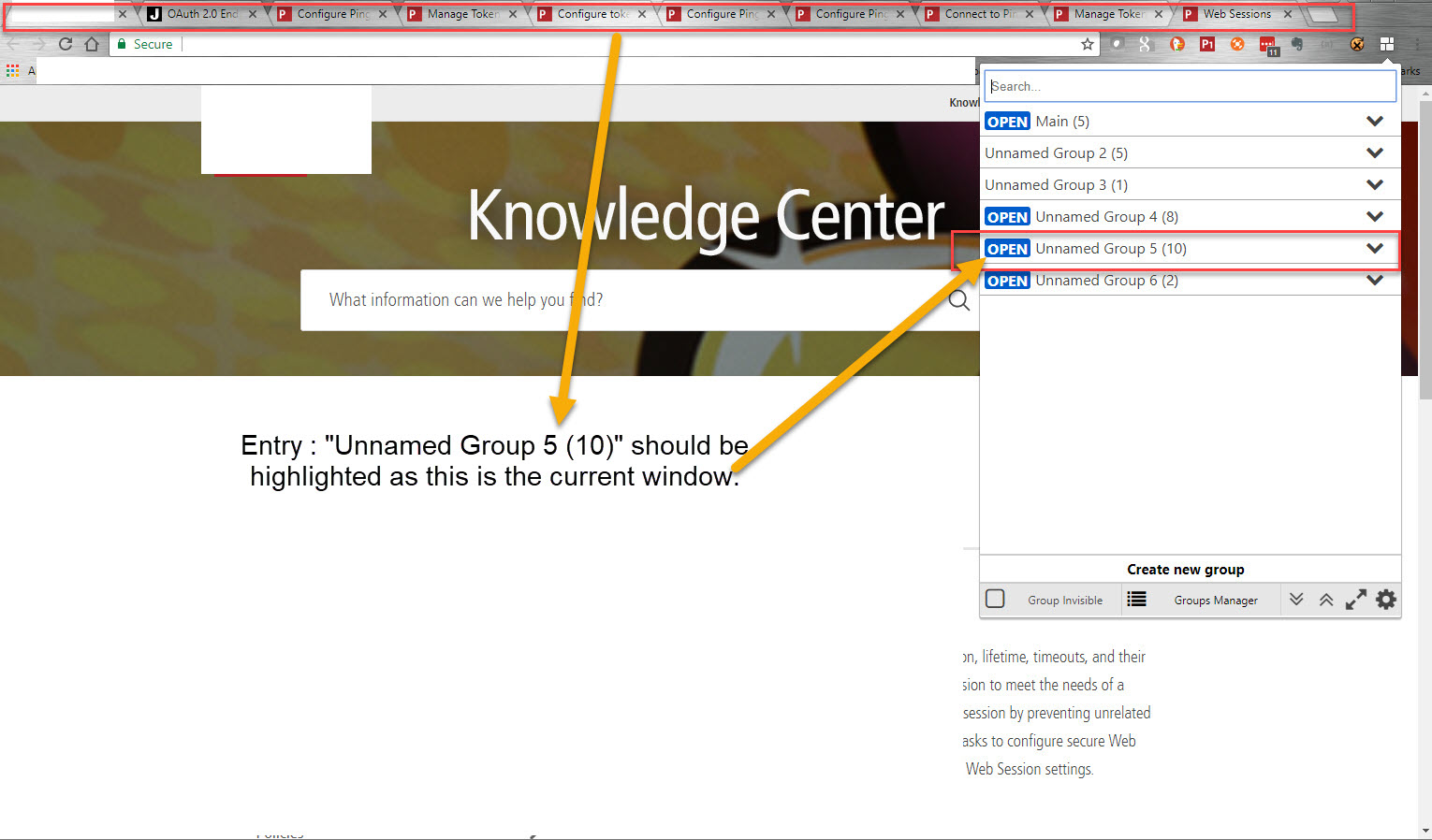 Chrome extension not reliably highlighting current Tab Group