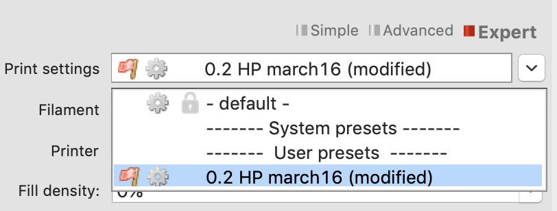 Missing/disappearing preset profiles for print settings