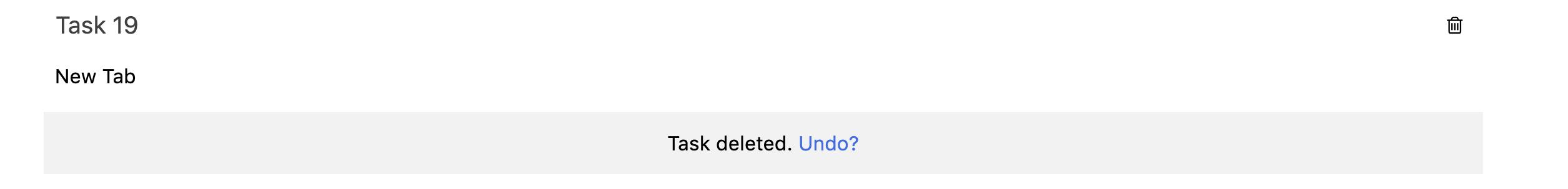 task  delete undo