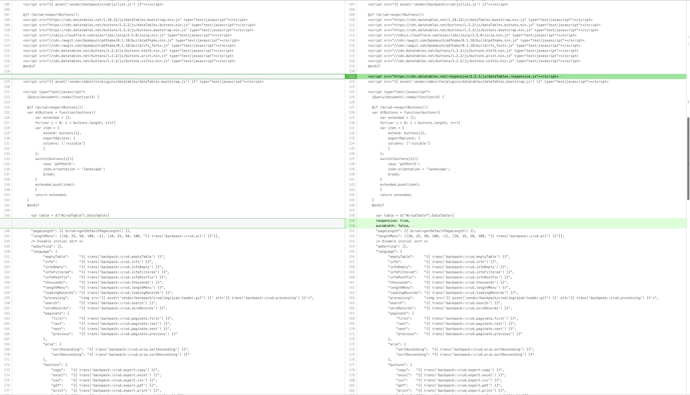 Datatables Responsive · Issue #152 · Laravel-Backpack/CRUD