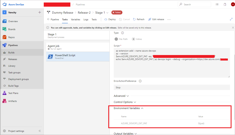 Bug] PAT fails to login via AzureDevOps Windows build/release agent