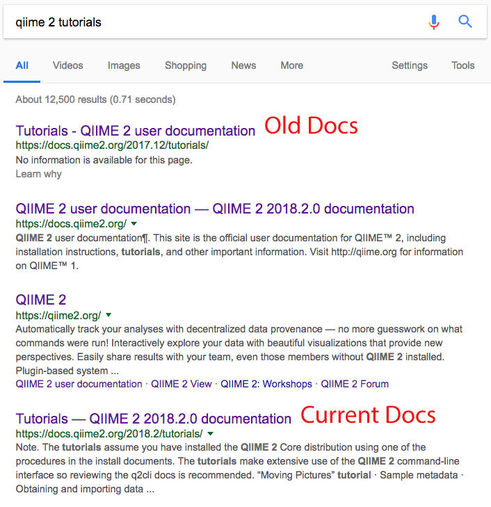 documentation URL confuse users · Issue #290 · qiime2/docs