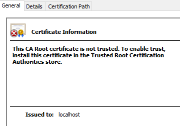 There was an error trusting HTTPS developer certificate · Issue