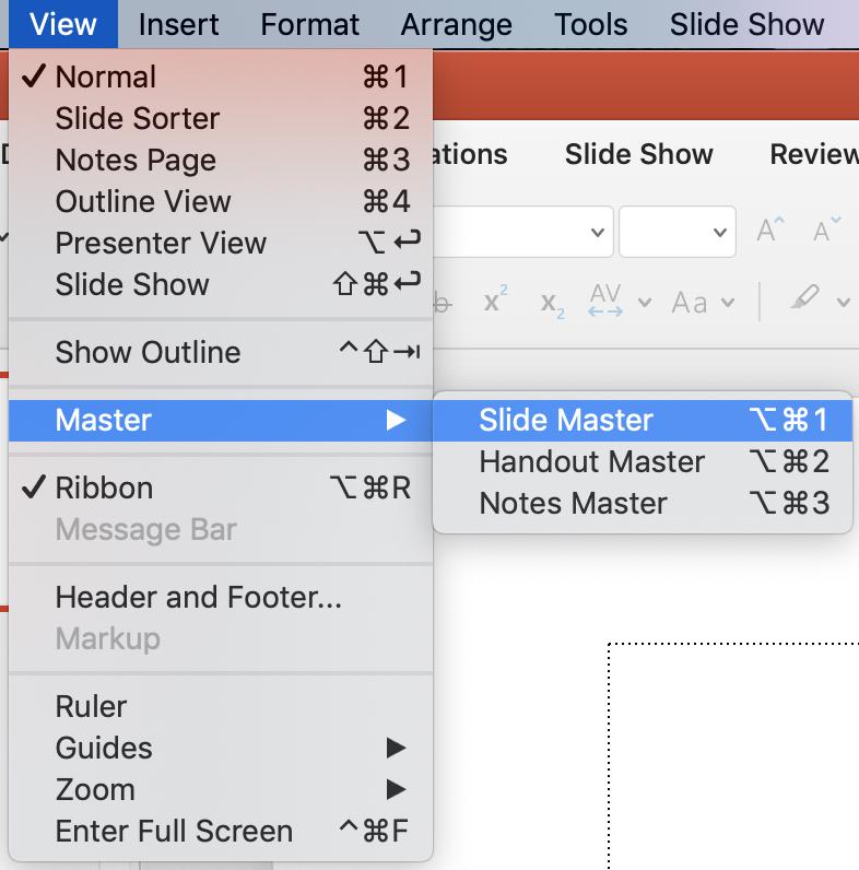 Open Slide master