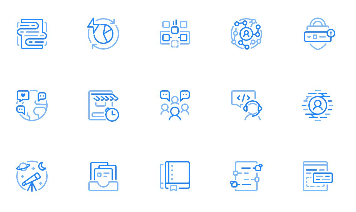 GitHub Marketing icons