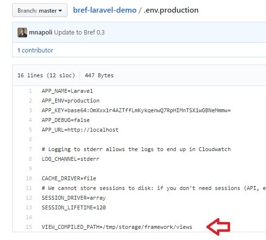 PHP Runtime error with a deployed sample Laravel app · Issue #210