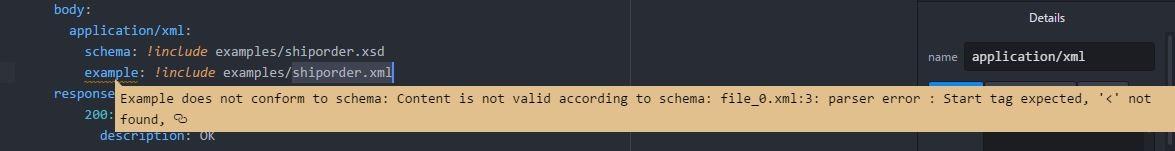 xml validation incorrect  · Issue #772 · raml-org/raml-js-parser-2