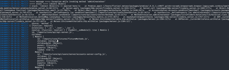 1 7] When methods err on server, the error stack is just