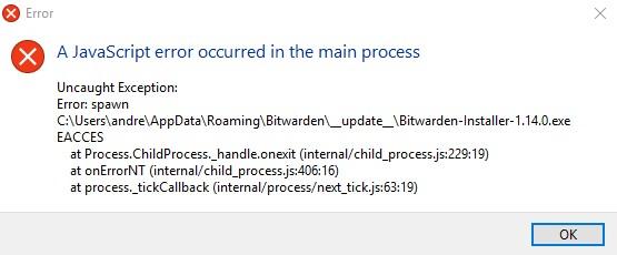 Javascript Error when updating · Issue #459 · bitwarden/server · GitHub