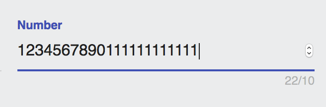 maxLength does not work when input type is a number · Issue #490