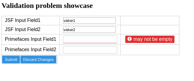 primefaces Input fields on form holds previous value after