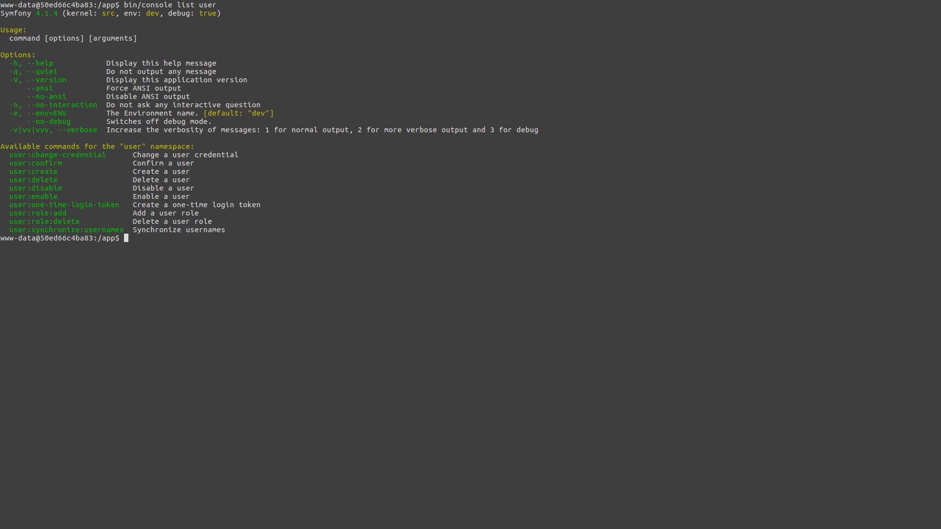 screen:cli