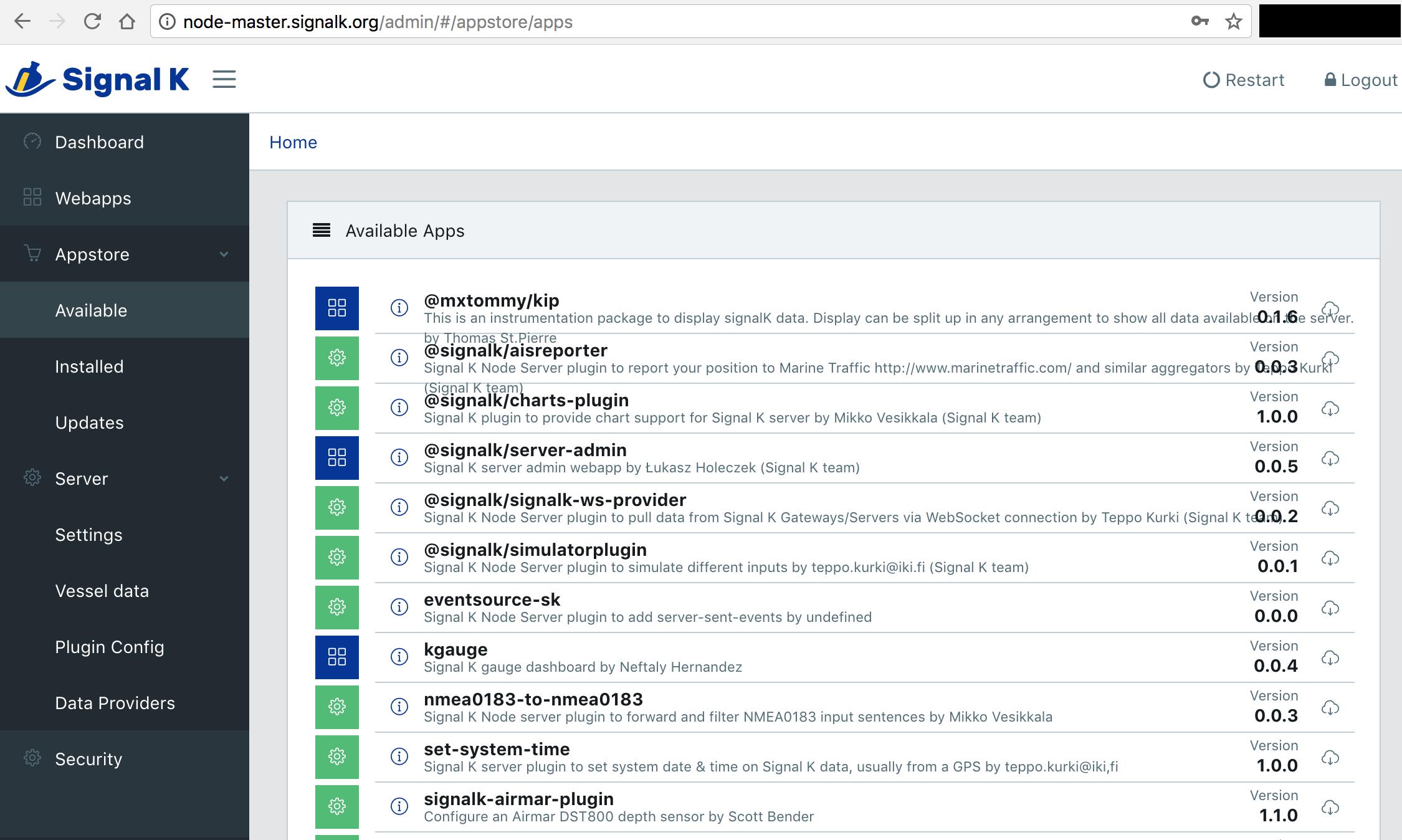 signalk-server-node/SERVERPLUGINS md at master · SignalK
