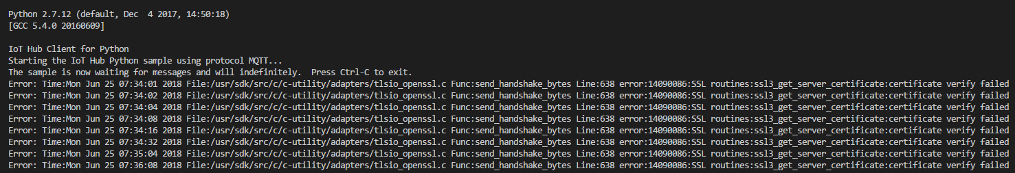 azure-iothub-device-client==1 4 0 0b2 not respect