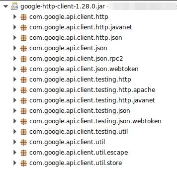 google-http-client 1 28 0 missing com google api client http